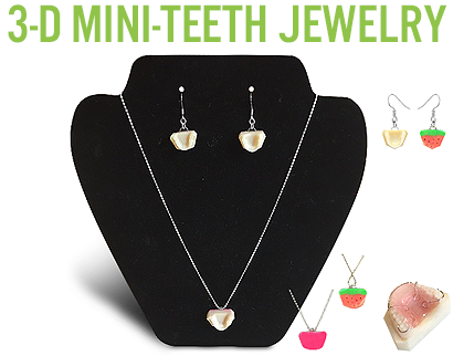 3-D Mini-Teeth Jewelry